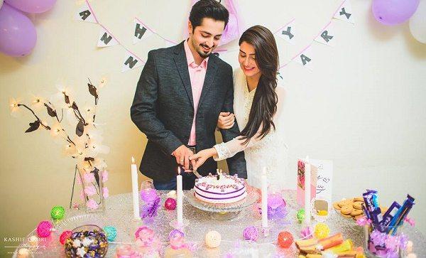 Wedding Anniversary Gifts For Husband In Pakistan : Ayeza Khan & Danish Taimoor Wedding Anniversary Pictures Pakistani ...