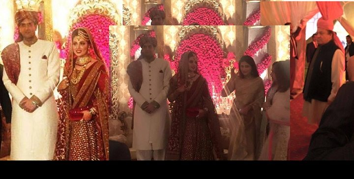 Complete pictures of maryam nawaz daughter wedding pakistani drama