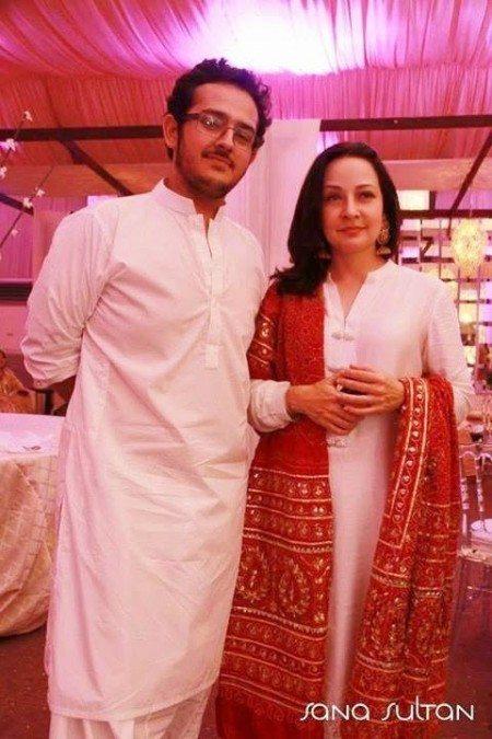 Azaan Sami Khan With Zeba Bakhtiyar