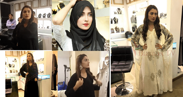 ayeza khan in abaya and scarf (1)