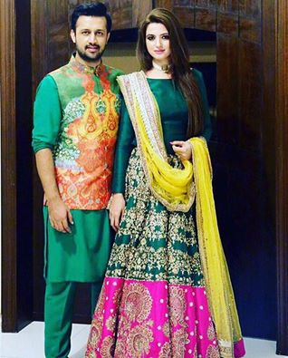 Atif Aslam with his Wife at Family Wedding Event ...
