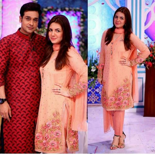 Faysal Qureshi With Wife Sana Faisal In His Morning Show