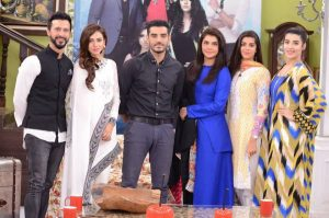 Cast of Film ' Dobara Phir Se ' with Nida yasir at GMP   Pakistani Drama Celebrities