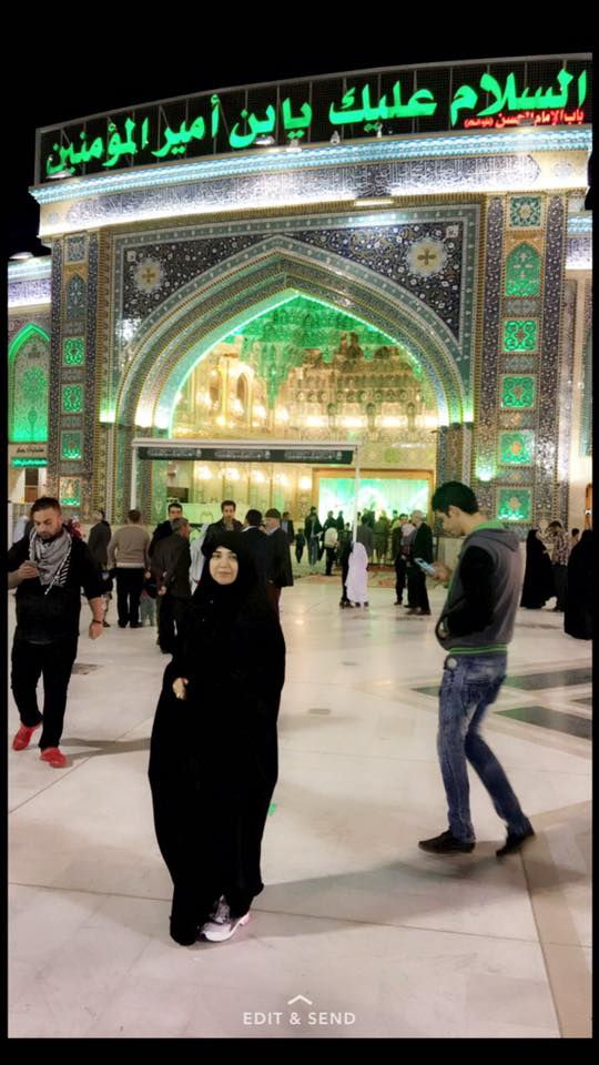 Non Muslim Perspective On The Revolution Of Imam Hussain: Actress Natasha Ali In Kerbala Iraq At Shrine Of Hazrat