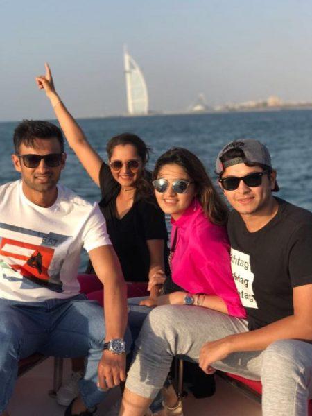 shoaib malik amp sania mirza having fun in dubai with family