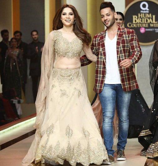 Beautiful Neelam Munir Walked On Ramp At Hum Bridal Couture Week 2017