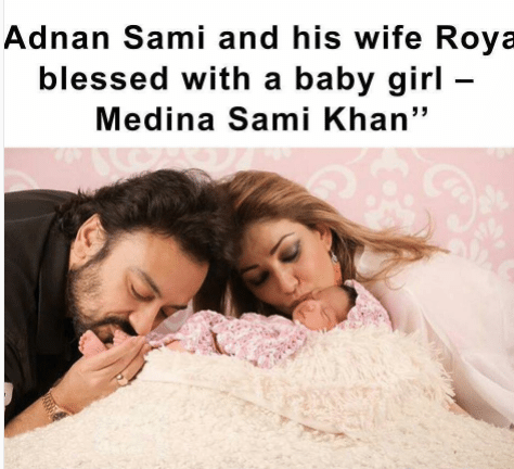 Adnan Sami Blessed With A Daughter Pakistani Drama