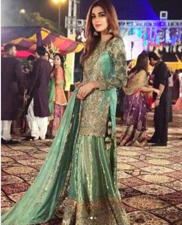 Black Pakistani Wedding Dresses Beautiful Maya Ali &am...