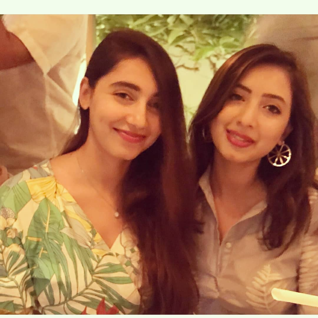 beautiful sisters komal aziz khan with her younger sister