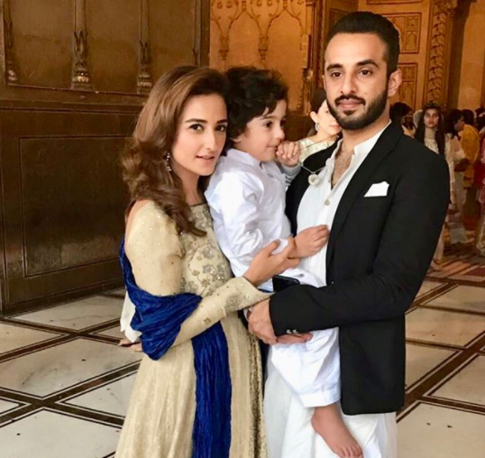 Momal Sheikh With Her Family At A Nikah Event In Badshahi