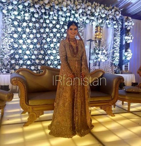 Beautiful Walima Reception Pictures of Syeda Alizey Raza ...