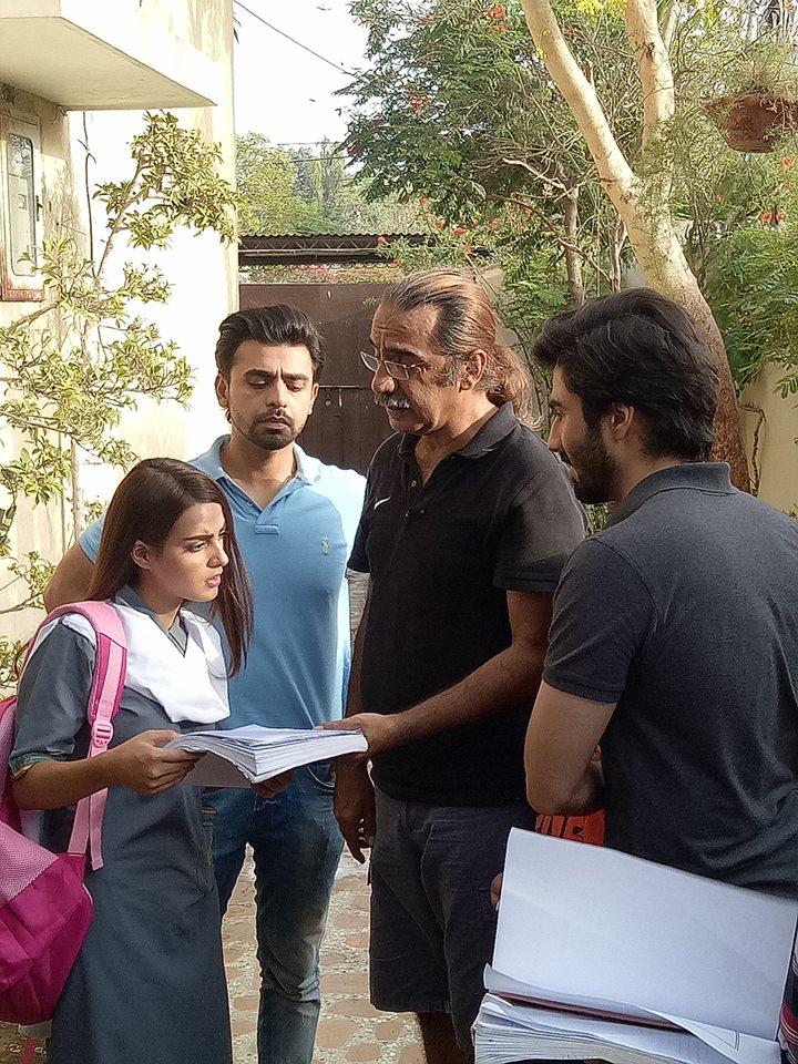 Latest Beautiful Clciks Of Farhan Saeed Amp Iqra Aziz On Set