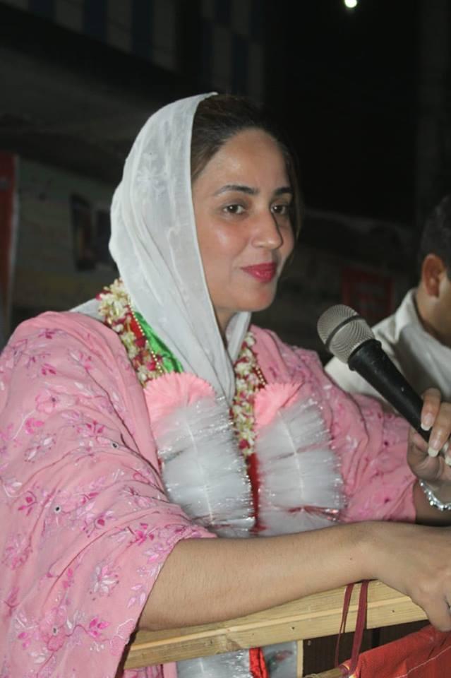 first time a female candidate zartaj gul of pti won from