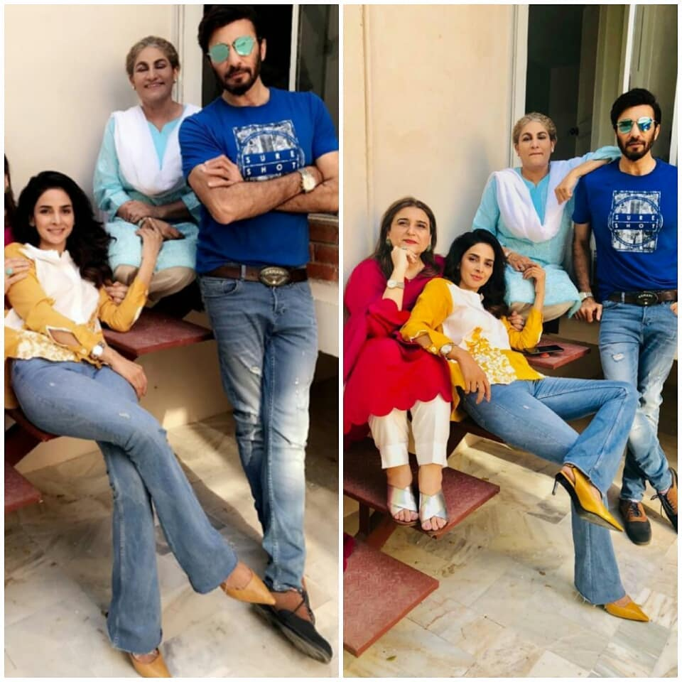 beautiful pictures on the set of saba qamars upcoming