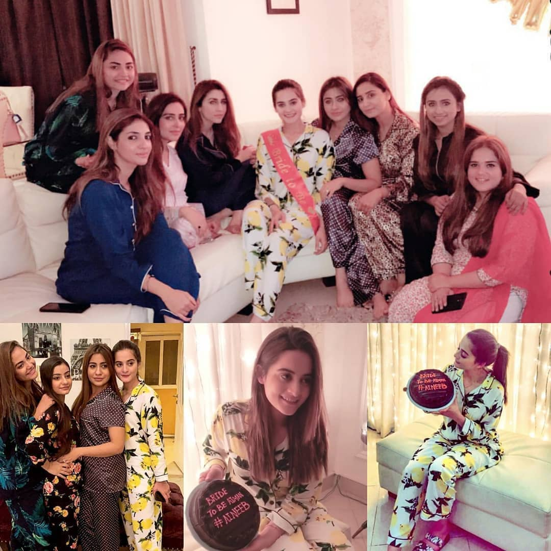 Beautiful Clicks of Bride To Be Aiman Khan Bridal Shower ...