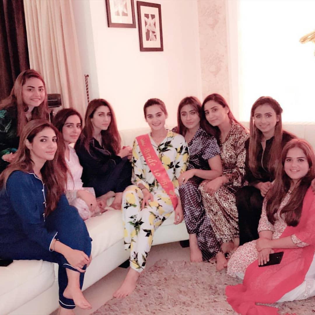 Beautiful Clicks of Bride To Be Aiman Khan Bridal Shower ...