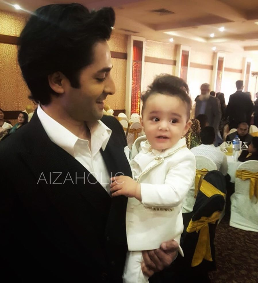 celebrities at the grand birthday party of ayeza and
