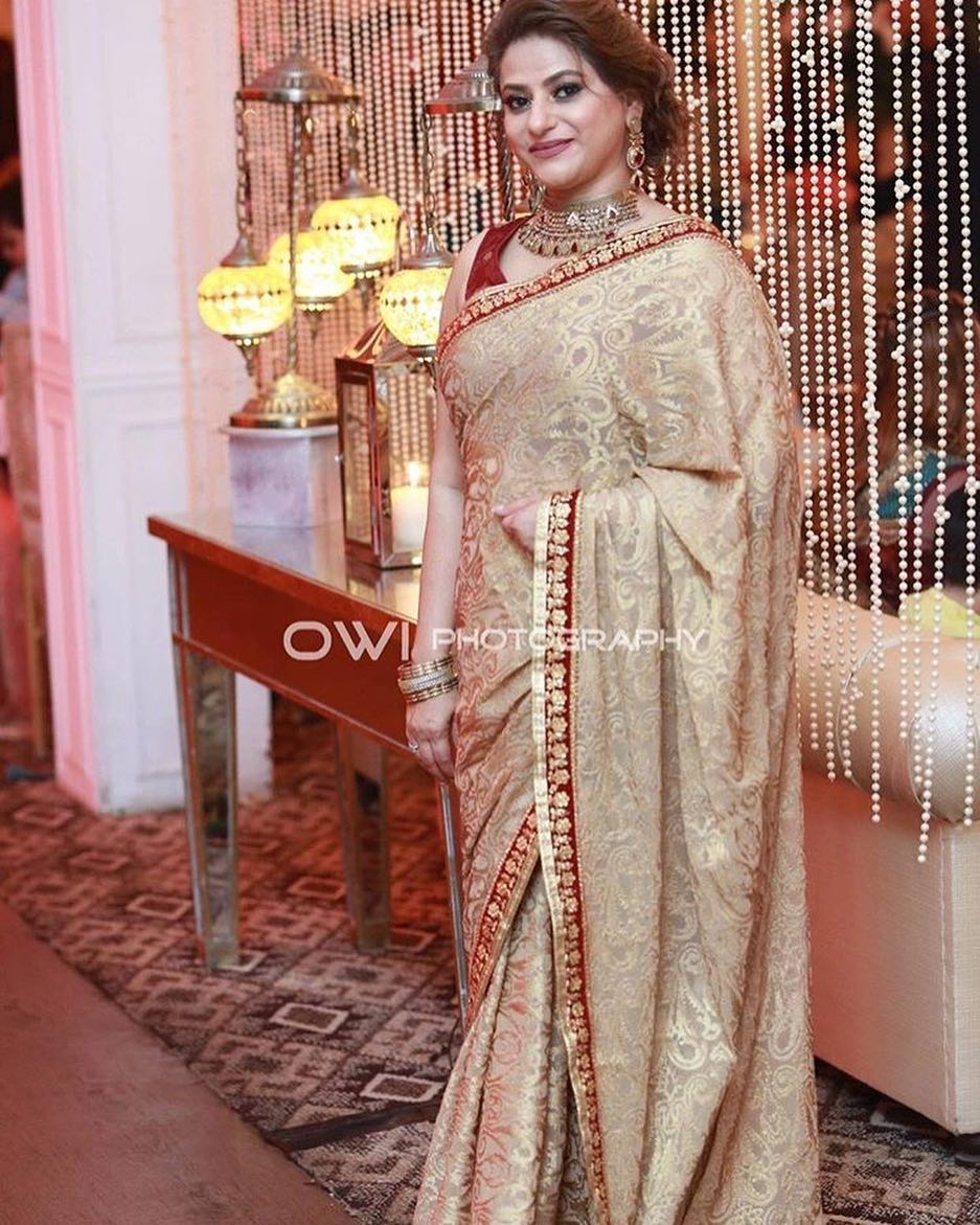 Actress Mariam Mirza With Her Husband At A Wedding Event