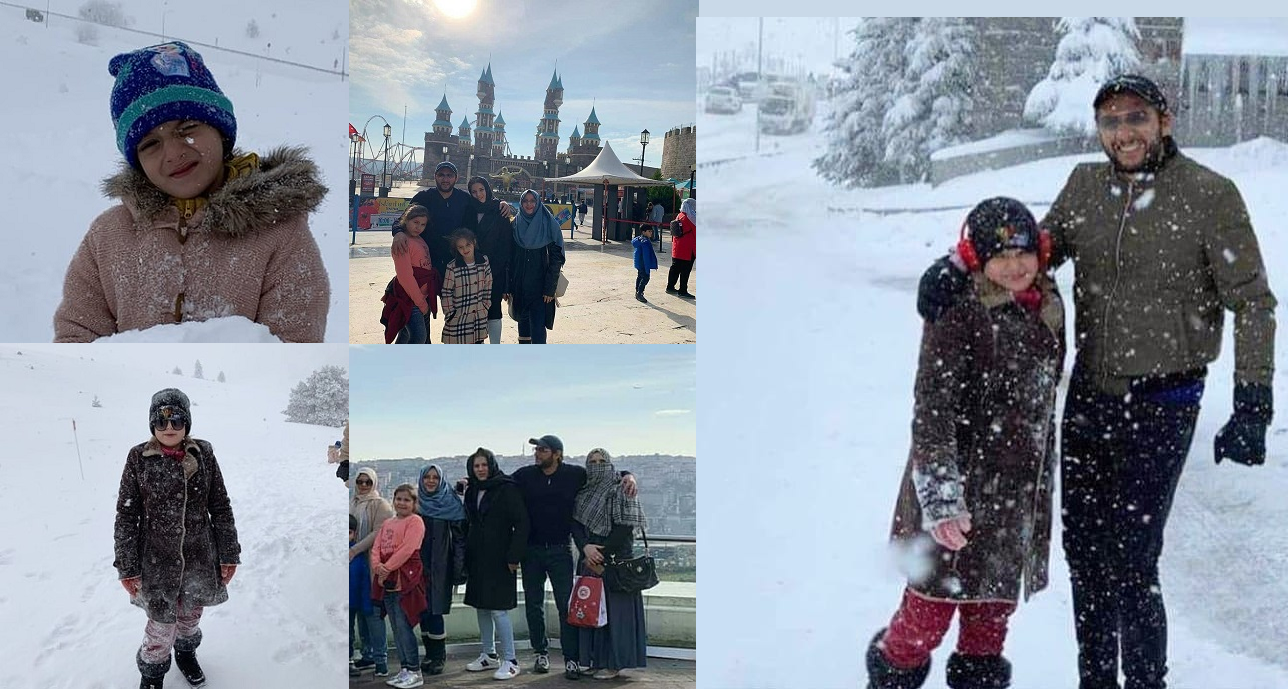 Shahid Afridi With His Wife And Daughters In Turkey