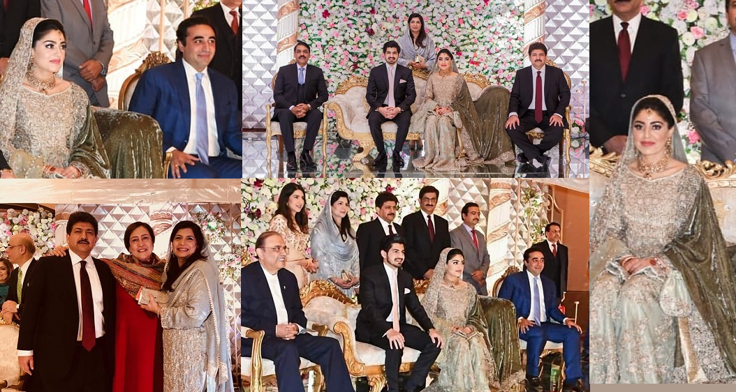 Beautiful Clicks of Famous Anchor Hamid Mir Son Wedding Reception