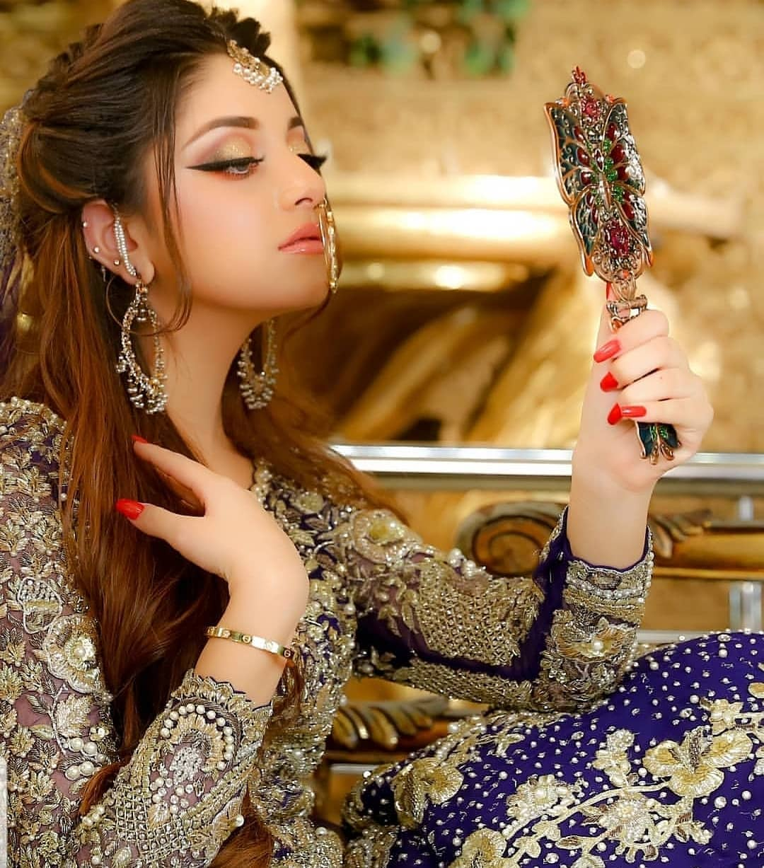 Latest Beautiful Bridal Photoshoot Of Actress Alizeh Shah