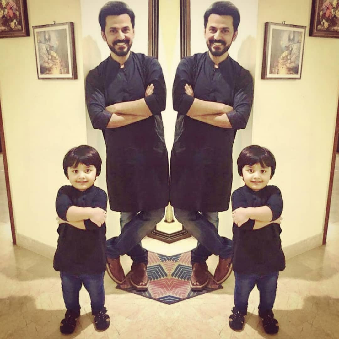 beautiful clicks of uroosa and bilal quresi with their