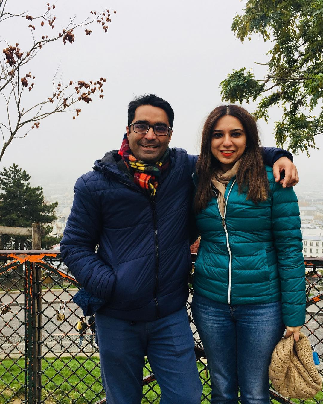 famous anchor maria memon with her husband in france