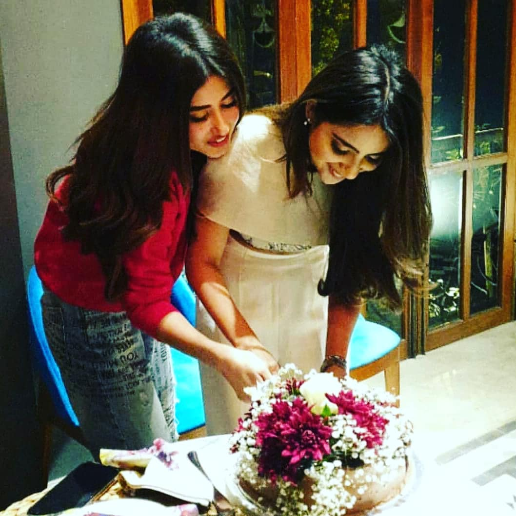 beautiful sajal aly at her sister saboor aly birthday