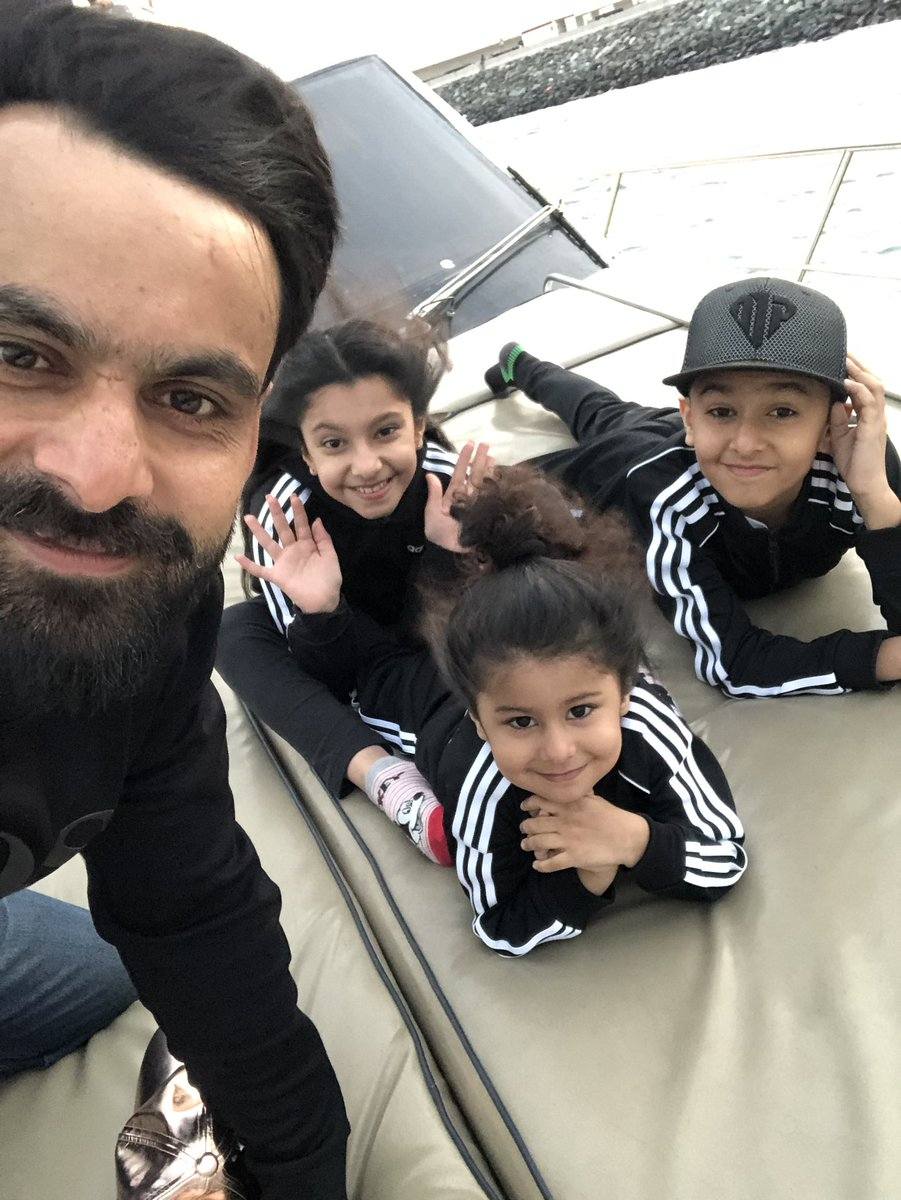 Beautiful Clicks of Cricketer Muhammad Hafeez with his ...