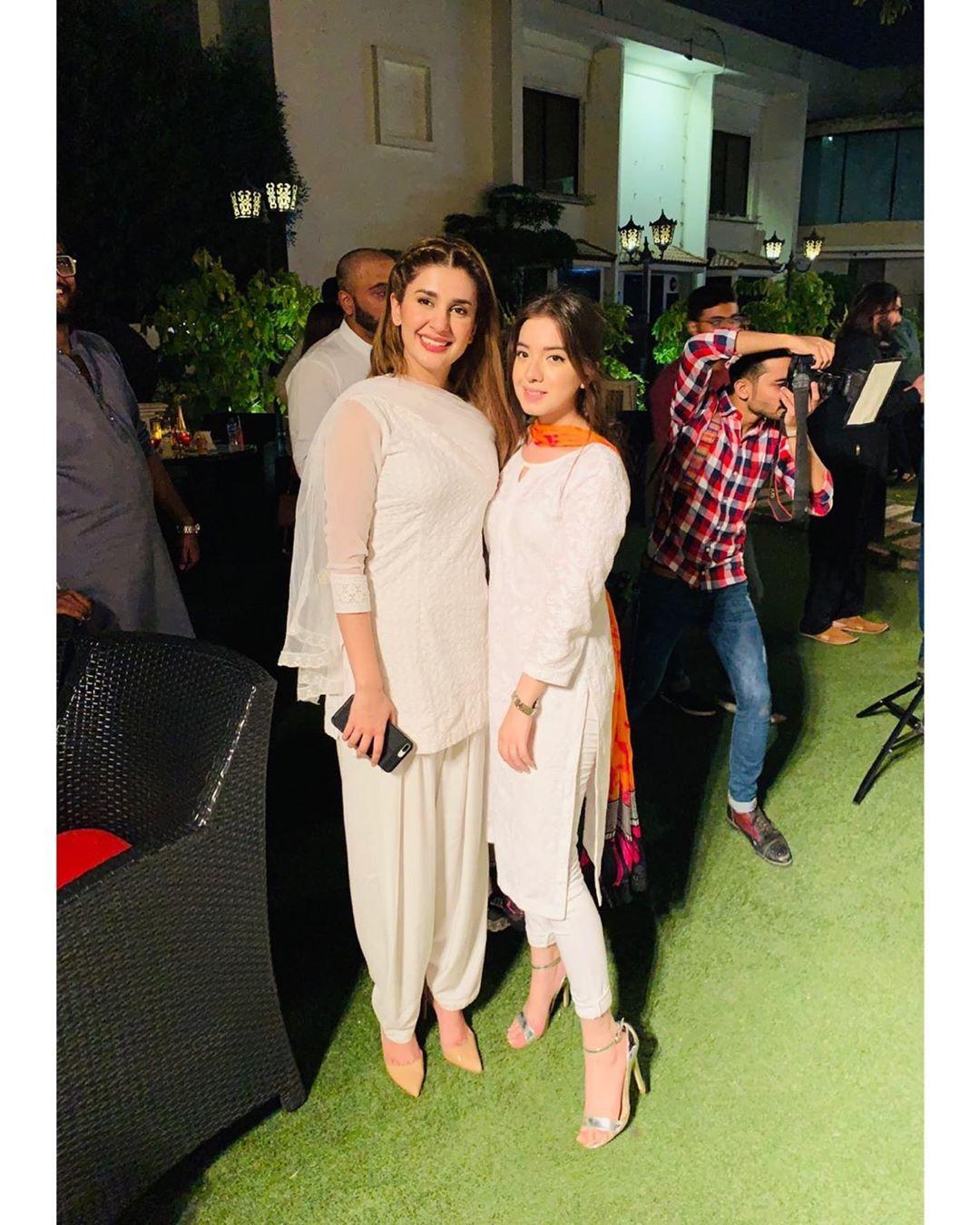 Beautiful Sisters Arisha And Sarah Razi At Iftar Party