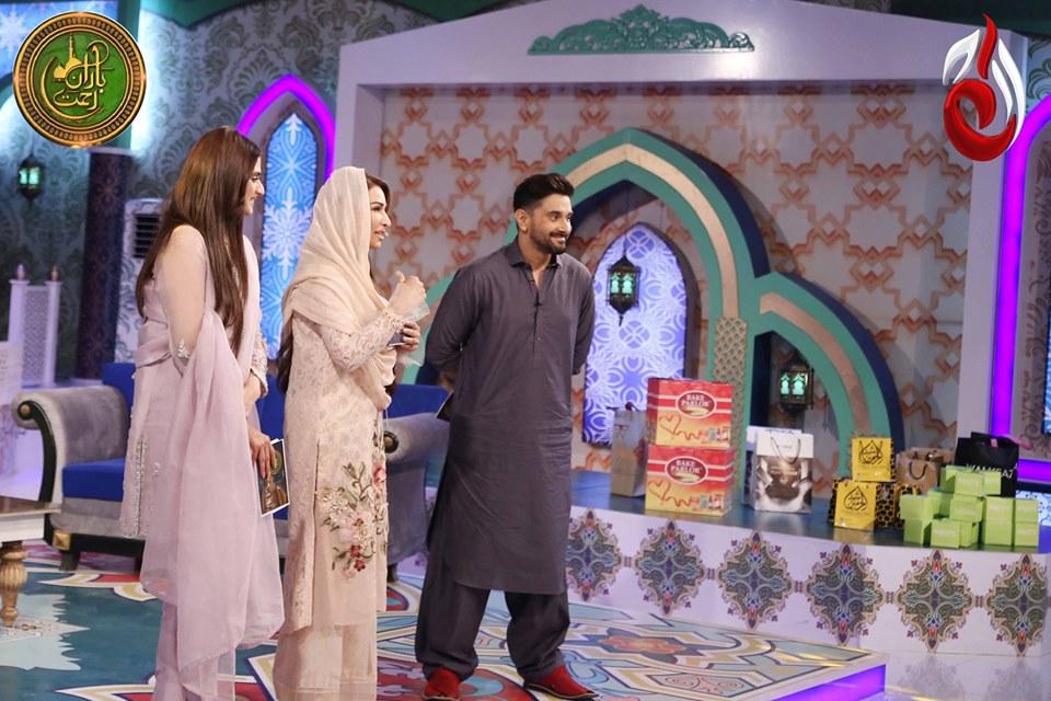 Hira and Mani in Reema Khan Ramazan Transmission Show | Pakistani