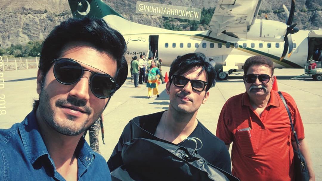 Beautiful Clicks of Usman Mukhtar and Naimal Khawar on Set of Drama