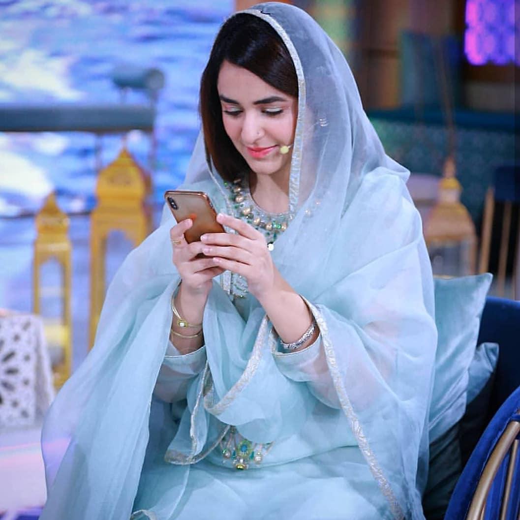 Beautiful Yumna Zaidi In Ehasaas Ramazan Transmission On