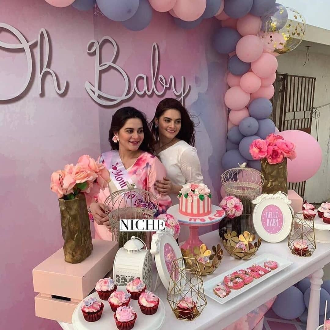 Aiman Khan S Baby Shower Happening Right Now Pakistani