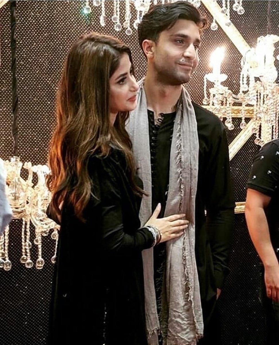 Beautiful Couple Sajal Aly and Ahad Raza Mir at the
