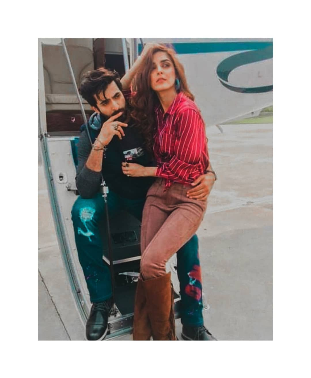 foto de Maya Ali Shared Beautiful Pictures from set of her Movie Paray Hut Love Pakistani Drama