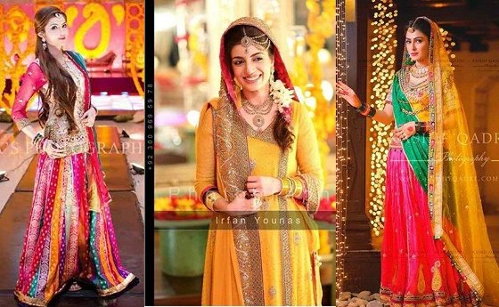 Mehndi Dresses 2015 Designs For Pakistani Brides Pakistani Drama Celebrities