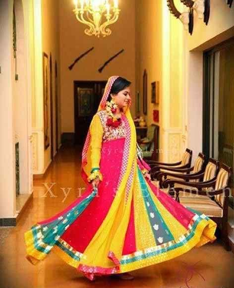 Mehndi Dresses 2015 Designs For Pakistani Brides 009 Pakistani Drama Celebrities