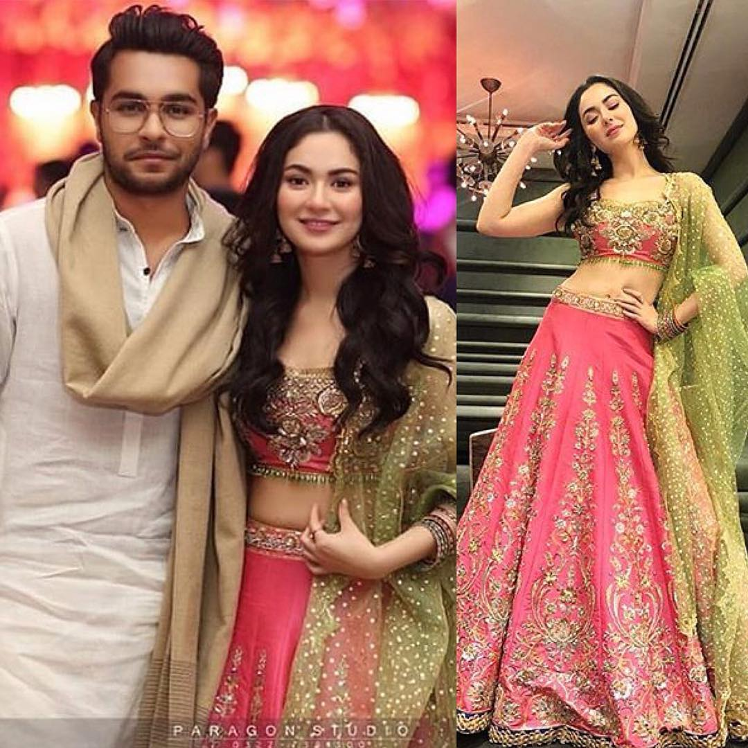 Hania Amir and Asim Azhar at a Wedding Event in Lahore ...